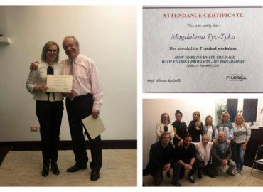 Szkolenie Filorga Master Class w Mediolanie w klinice Prof. Alessio Redaelli
